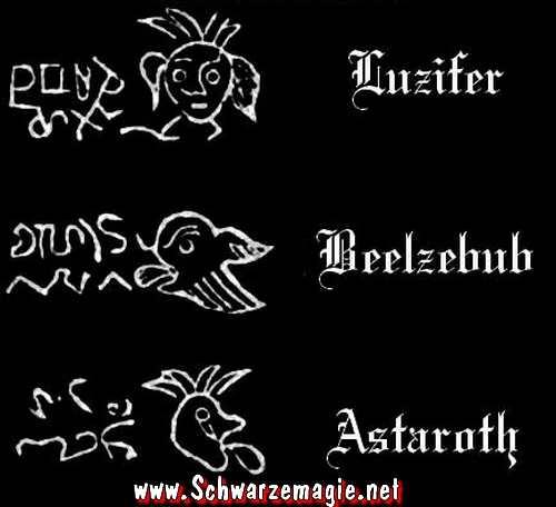 Voodoo Fluch Symbole und Siegel Dämonen