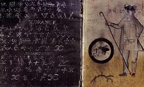 Magie Buch 15. Jahrhundert zur Geister- und Dämonenbeschwörung